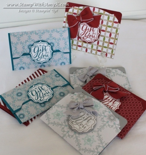 Gift Card Envelope & Pop 'n Cuts Gift Card Holder - Stamp With Amy K