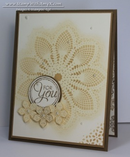 Hello Doily 1 - Stamp With Amy K
