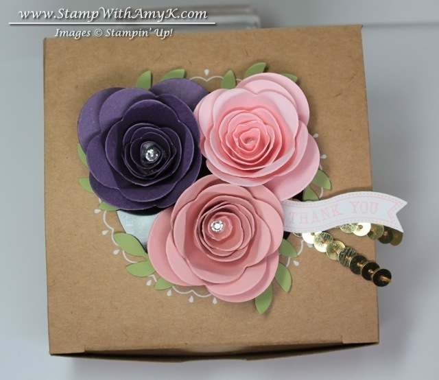 Spiral Flowers Gift Box Stampin Up Stamp With Amy K