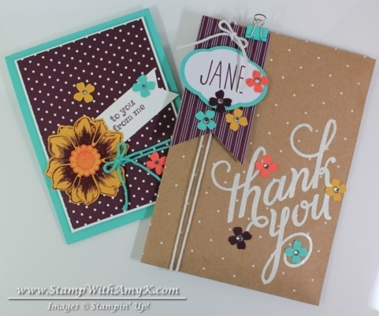 Beautiful Bunch Skinny Mini Another Thank You - Stamp With Amy K