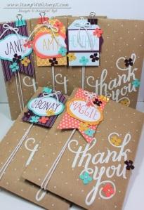 Polka Dot Gift Bags and Tag a Bag Kit 1 - Stamp With Amy K