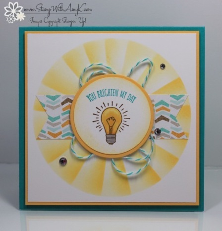 You Brighten My Day - Stamp With Amy K