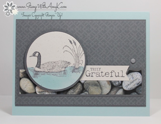 Stampin up moon lake truly grateful card stamp with amy k
