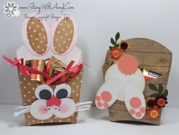Stampin' Up! Fry Box Die Easter Bunny Treat Holders – Stamp With ...