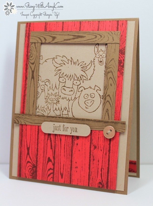 Stampin Up From The Herd Barn Door Card Stamp With Amy K