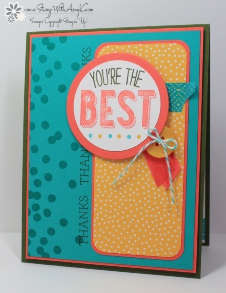 Friendly Wishes - Stamp With Amy K
