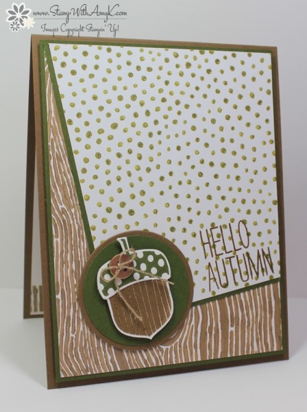 Acorny Thank You - Stamp With Amy K