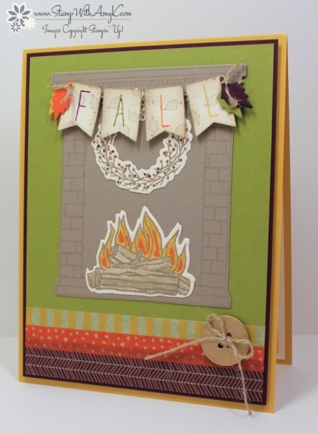 Festive Fireplace - Stamp With Amy K