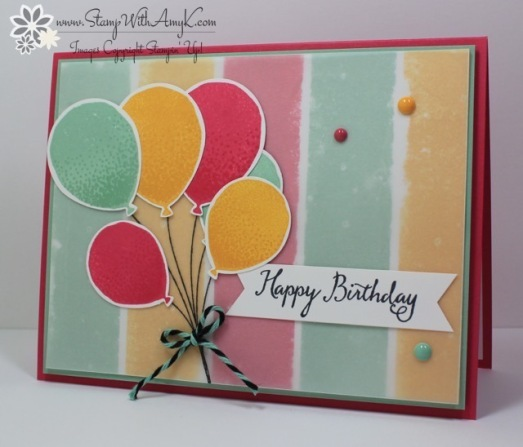 Balloon Celebration - Stamp With Amy K